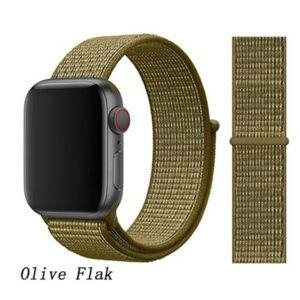 ❤️NEW Olive Flak Sport Loop Strap For Apple Watch